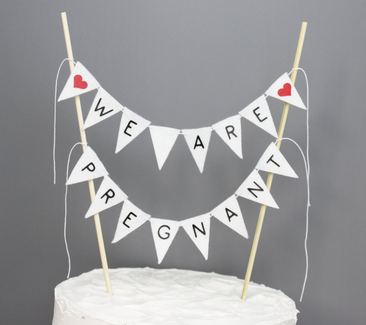 We Are Pregnant Cake Topper Pregnancy Announcement Prop – Baby Announcement Party