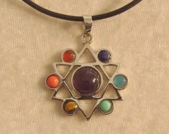 Chakra Star of David Necklace