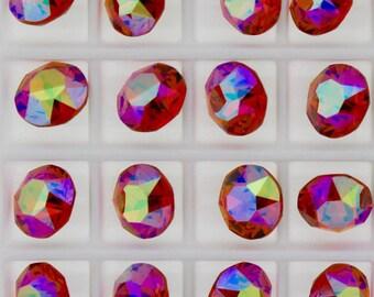Swarovski 1088 Sunny Daze 29ss Crystal Chatons Foiled - 6 Pieces