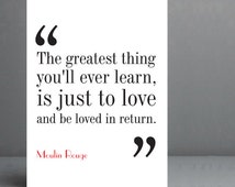 Moulin Rouge Movie Quote. Typography Print. 8x10 on A4 Archival Matte Paper