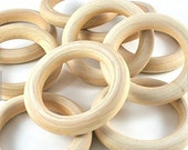 "20 Natural Wood Rings 2-2/8"" (56mm) B00NLX4L1M"