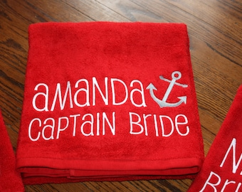 Personalized Anchor Beach Towels