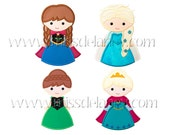 Ice Princess Applique Designs