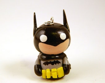Polymer Clay Batman Jewelry Charm , Classic Batman Charm , Cute Batman Charm , Batman Jewelry