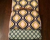 Gender Neutral Baby Burp Cloth Set - Baby Set Burp Cloths - Baby Boy Burp Cloth Set- Blue & Green Patterned (Set of 3)