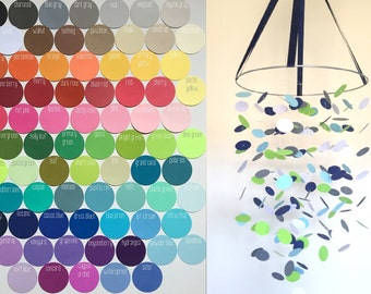 Custom Circle Mobile / / / Choose Your Colors / / / Nursery Decor, Photo Prop, Baby Shower Gift, Crib Mobile.