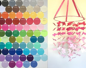 Custom Graduated Butterfly Mobile / / / Choose Your Colors / / / Nursery Decor, Photo Prop, Baby Shower, Crib Mobile