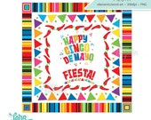 Cinco de Mayo Frames, Cinco de Mayo Borders, Cinco de Mayo Word Art, Cinco de Mayo Clipart