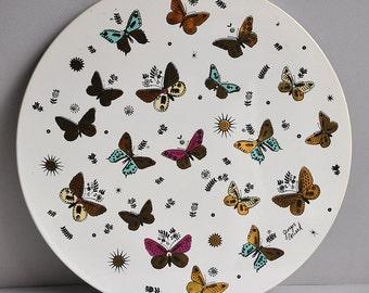 "RARE Huge Georges Briard ""Butterfly"" Trivet Platter"