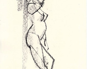 Gesture study 961 Original drawing  7.5 x 10.5 inches