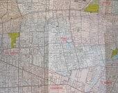 Vintage Los Angeles road map San Gabriel Valley area California street guide 1980
