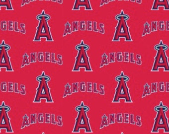 MLB Los Angeles Angels of Anaheim cotton fabric from Fabric Traditions