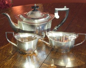antique silver plate tea set