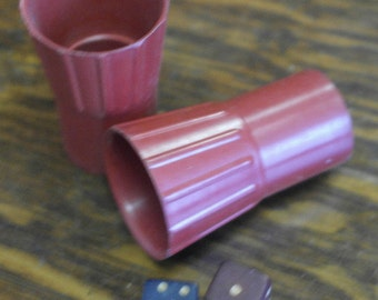 vintage wood dice and dice shakers