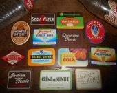 13 New Old Stock vintage Soda Tonic Labels