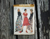 Simplicity 9602 1970s 70s Bohemian Dress with Sash Vintage Sewing Pattern Size 12 Bust 34