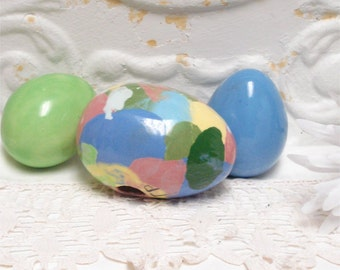 Ceramic Easter Eggs End Of The Day Solids Set 3