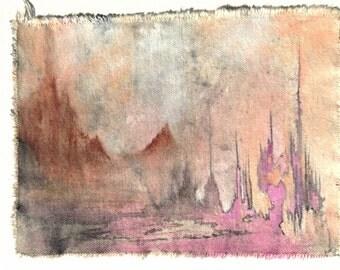 Original Cotton Canvas Art Pink Mermaid Reservoir