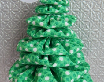 Spearmint Green and White Dot Tree Ornament