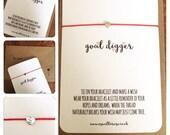 Goal Digger personalised...Wish String Bracelet...
