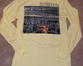 Vintage 1980's California Beach Co. Surfing Surf Shirt Long Sleeve T-Shirt 1987