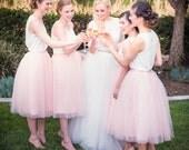 Tulle Skirt, Extra Full Skirt- Blush Pink, Tulle Skirt, Chic and Modern, Tulle skirt, Tutu, reception dress, Bridesmaid dress