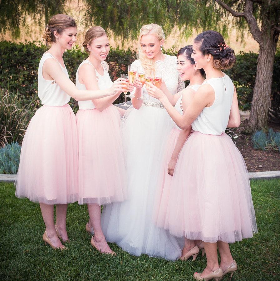 Tulle skirt extra full skirt blush pink tulle skirt chic zoom ombrellifo Images