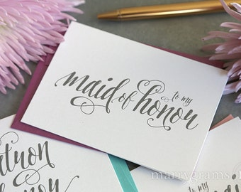 To My Bridesmaid, Maid of Honor, Wedding Party Thank You Cards- Bridesmaid Thank You -Bridesmaid Card, Man of Honor, Matron (Set of 8) CS12