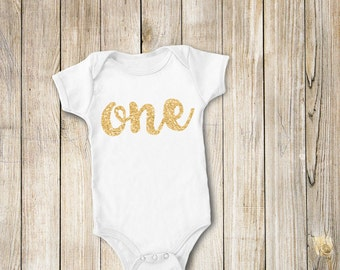Gold 'Glittery' Birthday DIY Iron on T Shirt Transfer INSTANT DOWNLOAD First Birthday Baby Girl (Gold Glitter One)