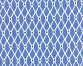 Blue and White Fishnet Fabric - Beach House by Kate Nelligan by Moda 1 Yard