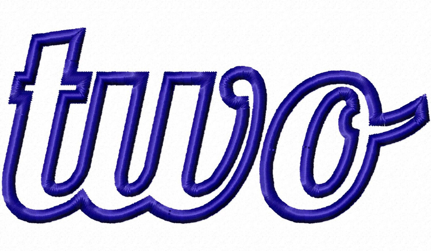 Applique word two machine embroidery design by