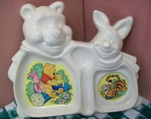 Whinnie the Pooh Toddler Dish Sectioned Kids Dish Disney