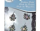 Rhinestone Flower Charms Set of 4 Discount Jewelry Supplies Jewelry Supplies