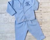 Monogram Newborn Outfit - Embroidered Baby Gift Set - Personalized Coming Home Outfit