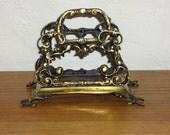 Vintage Brass Letter Holder - Made in England
