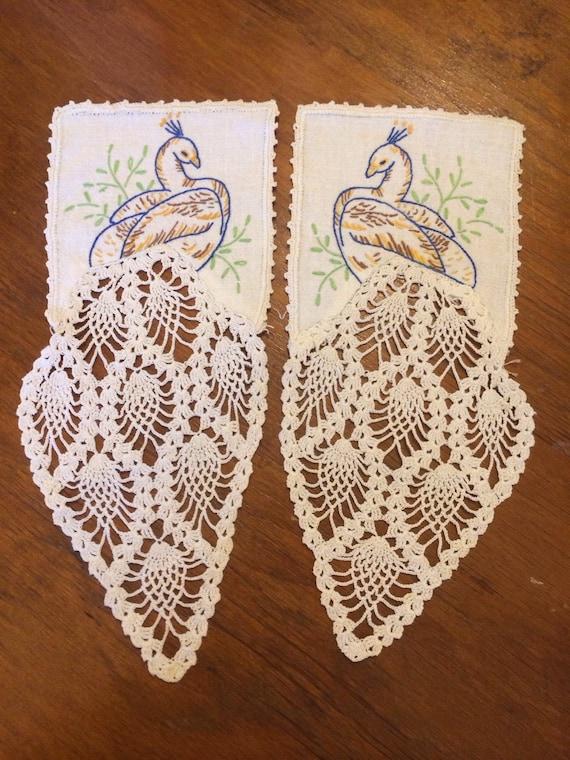 Peacock pineapple needlepoint crochet Doilies