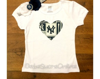 NY Yankees Girls Top and Headband