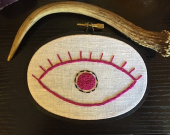 Eye Embroidery in Magenta