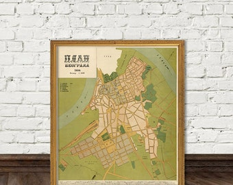 Belgrad map - Vintage map of Belgrad (Serbia) - fine reproduction