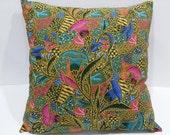 Pillow Cover, Decorative Pillow, Throw Pillow, Pillows, Toss Pillow, Accent Pillow, Pillow Covers, Village Batik Pillows 16x16 inches