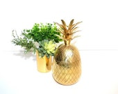 Vintage Brass Pineapple Candle Holders Hollywood Regency Brass Pineapples Pineapple Candlesticks Palm Beach  Ananas Pina