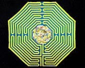 "Magic Dragon Labyrinth Quilt  (60""x60"")—FREE SHIPPING USA"