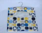 Clothes Pin Bag - Multicoloured Apple Print, Cotton Peg Bag, Laundry Day, Hanging Pegbag