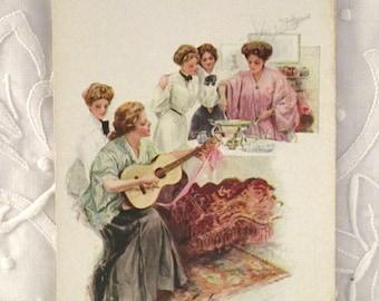 Vintage Postcard 'The Fudge Party'