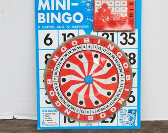 Vintage Mini Bingo Game by Smethport Specialty Company 1972