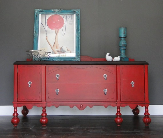 Items similar to SOLD Antique Buffet, Sideboard, Entry Table, Bathroom Vanity, TV stand