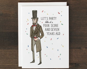 Funny Birthday Card Abraham Lincoln