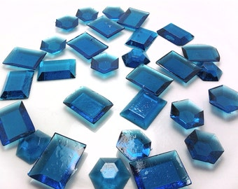 250 BLUE EDIBLE SUGAR Jewels - Featured in Brides Magazine