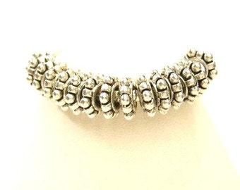 10 Silver European Daisy Spacers Charm Bracelet Beads - Euro