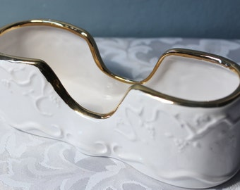 Vintage Ceramic Buffet Spoon Holder